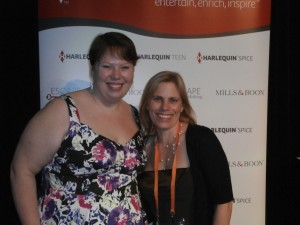 me, on the right, with Kate Cuthbert, publishing manager of Harlequin Escape
